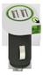 Q2Power dual USB billaddare, 2,1A (delad), 2xUSB portar, vit/svart