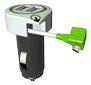 Q2Power Charger Car Micro-USB 3.1A 2xUSB White/Black