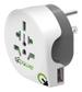 Q2Power världen till USA med 1xUSB-A 5V 2,1A, max 10A, 100V/250V, vit