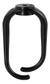 DELTACO Kabelhängare i plast, skruvmontering, 70x40 mm, svart