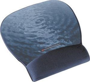 3M PRECISE MOUSEPAD W/ GEL WRIST BLUE WATER