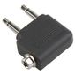 BANDRIDGE Headset Stereo Audio Adapter Flyadapter. 2 x minijack til minijack