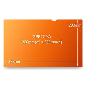 """3M Privacy filter for LCD 17,0"""""""" widescreen gold"""