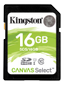 KINGSTON Flash card SD  16GB Kingston C10 Canvas Class10 UHS-I up to 80MB/s