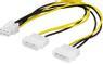 DELTACO Adapterkabel 2x4-pin till 6-pin PCI-Express, 25cm