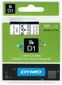 DYMO Tape Dymo D1 9mm x 7m sort på klar