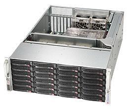 SUPERMICRO 4U RM CHASSIS BLACK 24 HS SAS/SATA BAYS 900W RPS