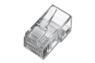 DIGITUS Modular stik 6 pol/4 leder (RJ11), Gennemsigtigt plastic.