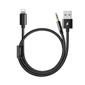 MCDODO Lighting to 3.5mm + charging 1.2m black