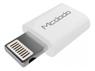 MCDODO Micro B to lighting adapter white