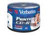 VERBATIM CD-R 700MB 52X Wide Print, 50 stk