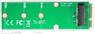 DELTACO mSATA to M.2 adapter card, B-Key, 2280, green