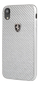 FERRARI HERITAGE REAL CARBON HARD CASE SILVER IPHONE 6.1